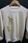 Kid's rabbit sweater with pocket